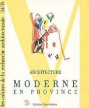 Archi moderne province - Couverture - Format classique