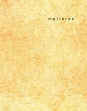 REVUE MATIERES N.11 ; transitions  - Collectif