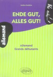 Endes gut, alles gut ! allemand ; grands débutants - Intérieur - Format classique