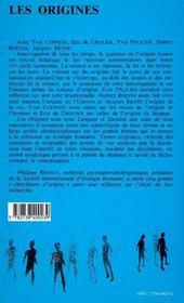 Origines (Les) - 4ème de couverture - Format classique