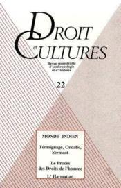 Droit & Culture N.22 - Couverture - Format classique