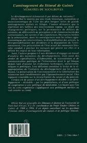 L'aménagement du littoral de guinée ; mémoires de mangroves - 4ème de couverture - Format classique