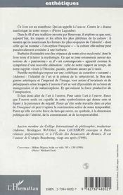 De L'Art A L'Oeuvre T.1 ; Petit Manifeste Pour Une Politique De L'Oeuvre - 4ème de couverture - Format classique
