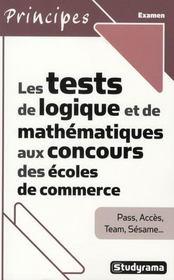 Les tests de logiques et de mathématiques aux concours des écoles de commerce - Intérieur - Format classique