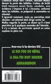 SAS t.146 ; le sabre de Bin Laden - 4ème de couverture - Format classique