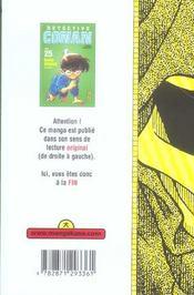 Detective Conan T25 - 4ème de couverture - Format classique