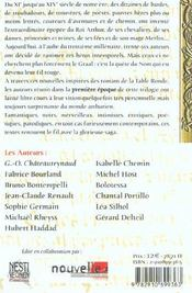 Chevaliers Sans Nom /1 - 4ème de couverture - Format classique