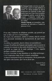 Telephones Portables Oui Ils Sont Dangereux - 4ème de couverture - Format classique