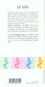 Le sida - 4ème de couverture - Format classique