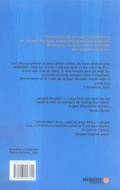 Gouverneurs De La Rosee - 4ème de couverture - Format classique