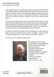 Le canevas du pavillon - 4ème de couverture - Format classique