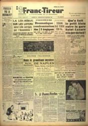 Franc Tireur N°1394 du 22/01/1949 - Couverture - Format classique