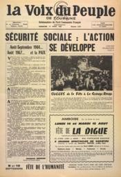 Voix Du Peuple De Touraine (La) N°1359 du 13/08/1967 - Couverture - Format classique
