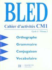 bled cahier d'activité cm1 correction