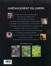 L'Amenagement Du Jardin - 4ème de couverture - Format classique