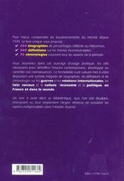 La France Et Le Monde Depuis 1939 350 Biographies 560 Definitions 70 Chronologies - 4ème de couverture - Format classique