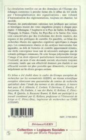 Le Controle De La Circulation Routiere Dans Les Pays De La Cee - 4ème de couverture - Format classique