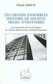 Les Grands Ensembles ; Histoire De Milieux ; Milieu D'Histoires - Intérieur - Format classique