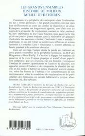 Les Grands Ensembles ; Histoire De Milieux ; Milieu D'Histoires - 4ème de couverture - Format classique