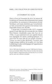 Un Endroit Ou Aller (Ne) Babel 28 - 4ème de couverture - Format classique