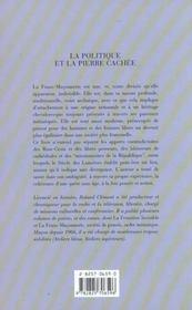 Politique et la pierre cachee - 4ème de couverture - Format classique