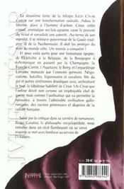 Jules Cesar T02 La Symphonie Gauloise - 4ème de couverture - Format classique