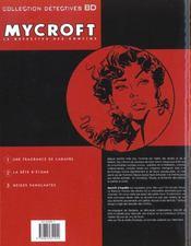 Mycroft inquisitor t.1 ; une fragance de cadavre - 4ème de couverture - Format classique