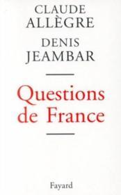 Questions de France - Couverture - Format classique