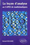 La lecon d'analyse au capes de mathematiques