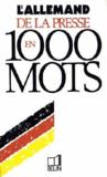 L'allemand de la presse en 1000 mots