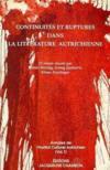 Continuites et ruptures dans la littérature autrichienne