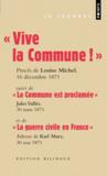 Livres - Grands discours ;  vive la commune 