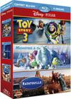 DVD &amp; Blu-ray - Coffret Pixar - Toy Story 3 + Monstres &amp; Cie + Ratatouille