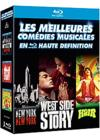 DVD &amp; Blu-ray - Les Meilleures Comdies Musicales En Haute Dfinition : New York, New York + West Side Story + Hair