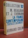 Livres - La France contemporaine: textes et documents...