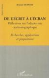 De L'Ecrit A L'Ecran Reflexions Sur L'Adaptation