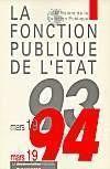 La fonction publique de l'etat mars 93 mars 94