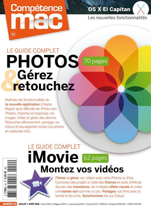 Competence Mac N.42 ; Les Guides Complets Photos Et Imovie  - Collectif