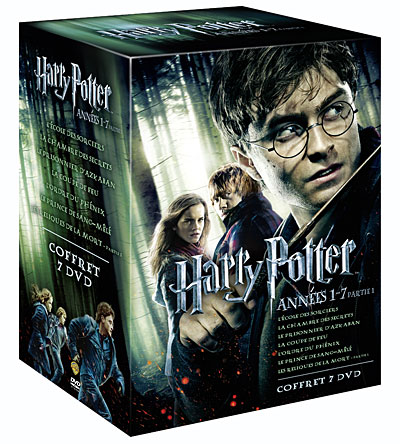 coffret dvd harry potter ann es 1 7 partie 1. Black Bedroom Furniture Sets. Home Design Ideas
