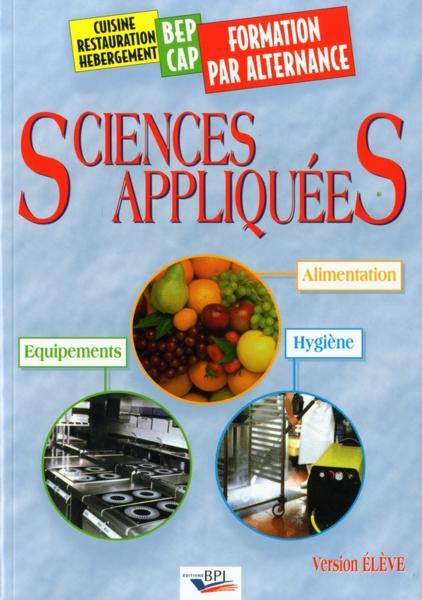 Livre sciences appliquees alimentation equipements for Sciences appliquees cap cuisine