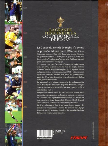Livre la grande histoire de la coupe du monde de rugby l 39 equipe - Histoire de la coupe du monde ...