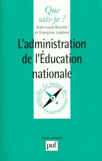 Administration de l'education nation  - Boursin/Leblond J.L.