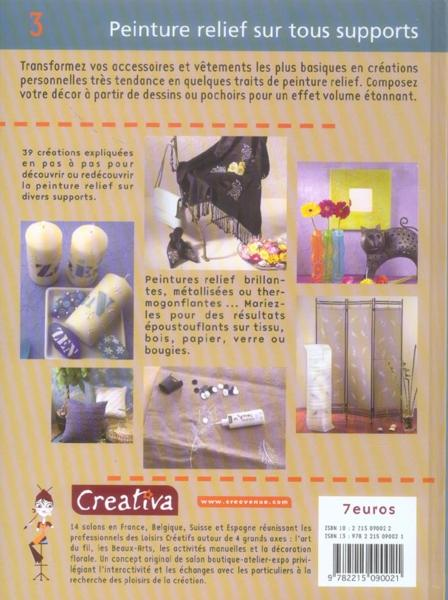 Livre creativa t 3 peinture relief tous supports for Peinture tous supports