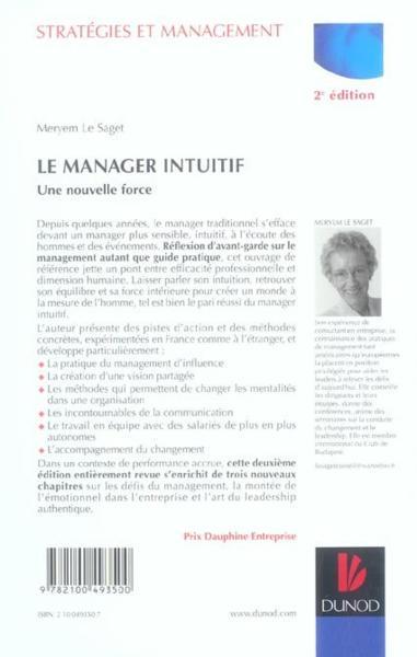 Le manager intuitif Une nouvelle force