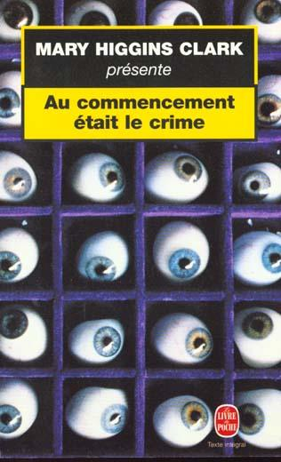 Vente                                 M.higgins clark presente : au commencement etait le crime                                  - Mary Higgins Clark  - Higgins-Clark-M  - Mary Higgins Clark