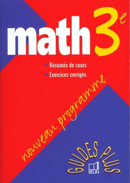 Math 3e guide plus 99  - Boursin