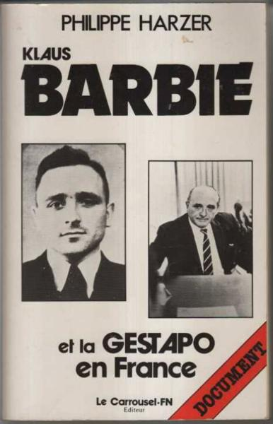Klaus Barbie & Gestapo France  - Harzer/P