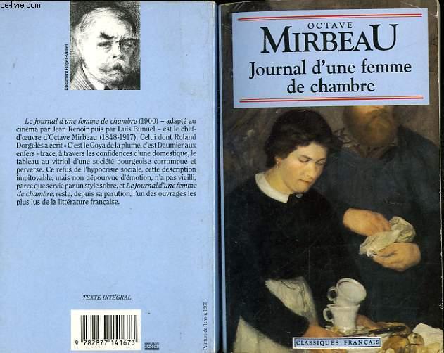 Livre journal d 39 une femme de chambre octave mirbeau - Je cherche du travail femme de chambre ...