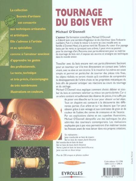 Livre  Tournage De Bois Vert  Michael ODonnell ~ Tournage Bois Vert