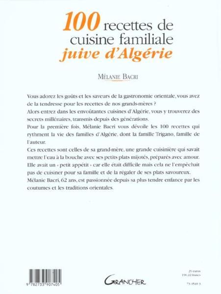 Le Fameux Livre 100 Recettes De Cuisine Familiale Juive Dalgérie